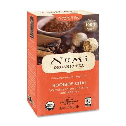 Wholesale Case Of 20 - Numi Ruby Chai Herbal Tea-Herbal Tea, Organic, 18 Bags/Bx, Ruby Chai