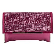 Spiked Diamonte Studded Suede Evening Bag