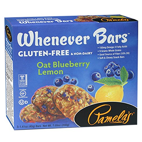 Pamela's Products Gluten Free  Whenever Bars, Blueberry Lemon, 5 Count Box, 7.05-Ounce (Pack of 6) (Gluten Free Breakfast Bars compare prices)