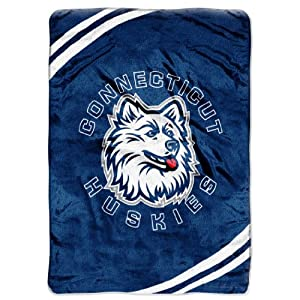 Buy NCAA Connecticut Huskies Force Royal Plush Raschel Throw Blanket, 60x80-Inch by Northwest