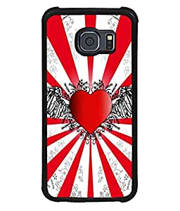 printtech Heart Wings Abstract Back Case Cover for Samsung Galaxy S6 Edge::Samsung Galaxy Edge G925