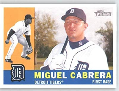 Miguel Cabrera - Detroit Tigers - 2009 Topps Heritage Card # 414 - MLB Trading Card