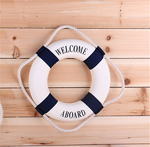 OliaDesign Welcome Aboard Cloth Life Ring Accent Nautical