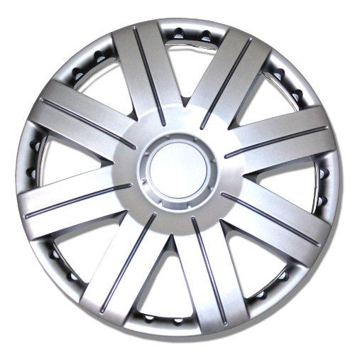 TuningPros WSC-613S15 Hubcaps Wheel Skin Cover 15-Inches Silver Set of 4 (Kia Rio 2013 Hubcaps compare prices)