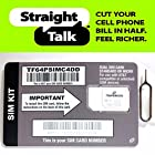 Straight Talk SIM Card for AT&T or Unlocked GSM Phone, iPhone 4, 4S, 5, Samsung Galaxy, Note, Android