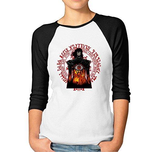 Hellsing Raglan Sleeve Crew Neck Half Sleeve T Shirts Women's Sexy Raglan (Hellsing Gun compare prices)
