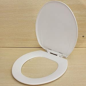 PVC White Soft Close Elongated Toilet Seat Cover With Fittings