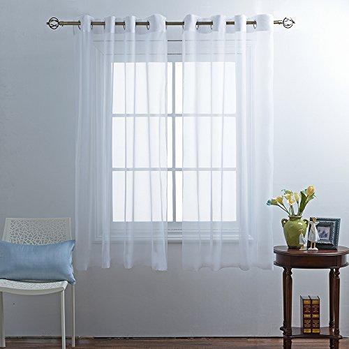 ponydance 2 st cke gaze transparent schals mit sen 2 platten 175 cm x 140 cm h x b 2er set wei. Black Bedroom Furniture Sets. Home Design Ideas