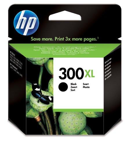HP 300XL Cartouche d'Encre Noir Grande Capacité Authentique (CC641EE)