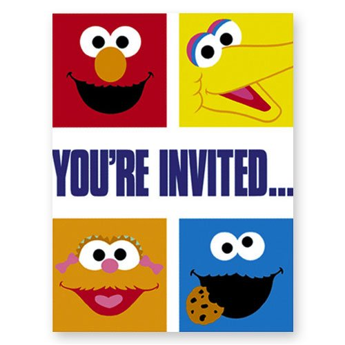 Sesame Street Smiles Invitations 8ct - 1