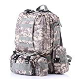 YX 3 Day Assault Backpack 3 Day Bug Out Bag Military Molle Daypack For Hunting Camping Outdoor Hiking Fishing Paintball Airsoft Bag 60L