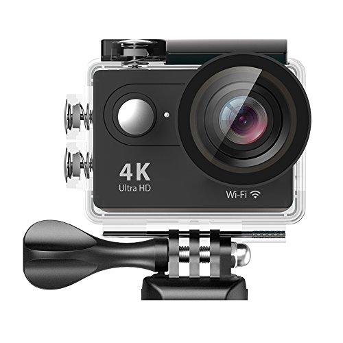 EKEN-H9H9R-Wifi-Action-Kamera-4k-Unterwassergehuse-fr-bis-zu-30m-Wassertiefe-2-Batterie-Selfie-Stick-Charging-Dock