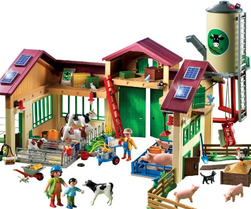 Playmobil 5119 la nouvelle ferme avec silo your 1 for Playmobil piscina con tobogan