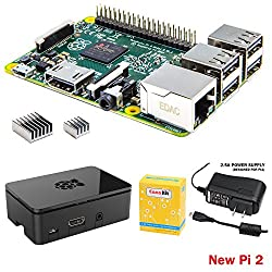 CanaKit Raspberry Pi 2 (1GB) with Premium Black Case and 2.5A Power Supply
