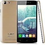 CUBOT X12 5,0'' HD Screen 4G-FDD-LTE-Smartphone Quad-Core Dual SIM 1G+8G Handy ohne Vertrag Android 5.1 Dual Kameras OTG GPS IR-Fernbedienung Gold