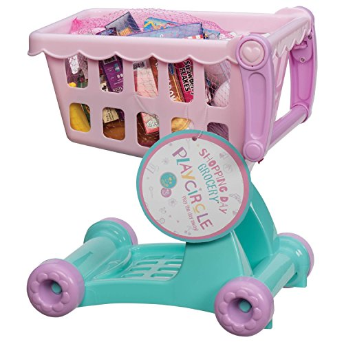 Play Circle Pretend Play Shopping Cart and Groceries - 1