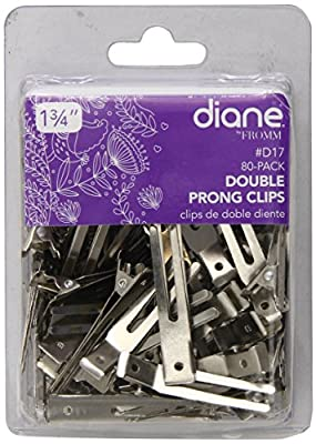 Diane Double Prong Clip 1.75 Inches, 80 Clips