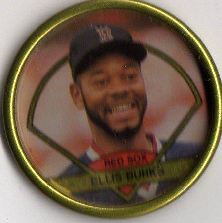 1990 Topps Baseball Bronze Coin #8 Ellis Burks - 1
