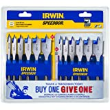 Irwin Tools 1856841 Speedbor Blue Groove, 6-Piece - Buy One, Give One