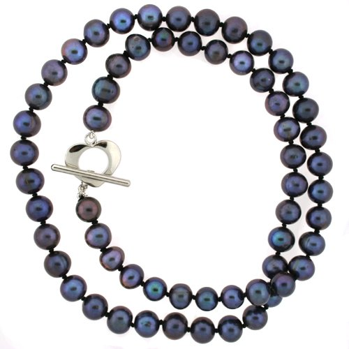 Pearl Freshwater Cultured Black Necklace Strand 6-7mm 18