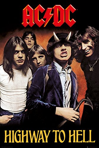 GB Eye, AC/DC, Highway to Hell, Maxi Poster, 61 x 91,5 cm