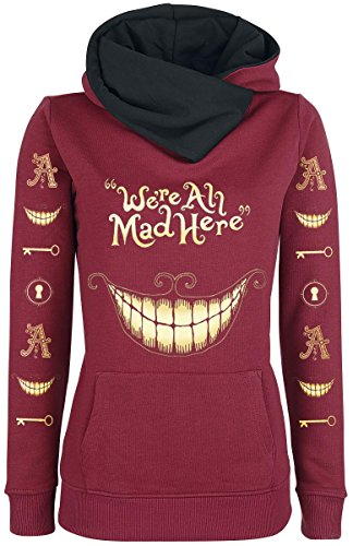 Alice In Wonderland Mad Mouth Felpa donna bordeaux M