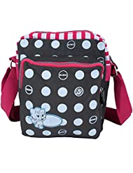 Super Drool Grey Dancing Polkas Sling Bag