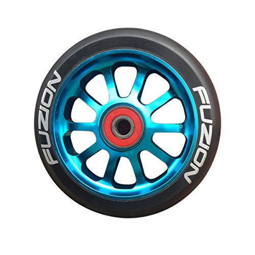 fuzion-10-spoke-metal-core-100mm-pro-scooter-wheel-with-abec-9-bearings-blue-black