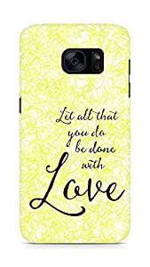 AMEZ let all that you do be done with love Back Cover For Samsung Galaxy S7