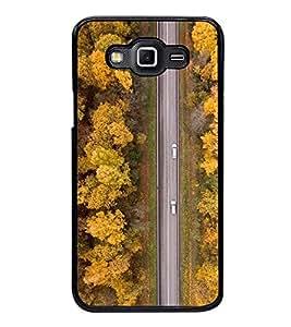 Road 2D Hard Polycarbonate Designer Back Case Cover for Samsung Galaxy Grand 3 :: Samsung Galaxy Grand Max
