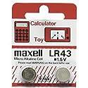 Maxell Battery LR 43 1.5, 2 pack