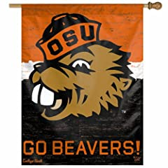 Buy NCAA College Vault Oregon State Beavers Vault 27-by-37 Inch Vertical Flag by WinCraft