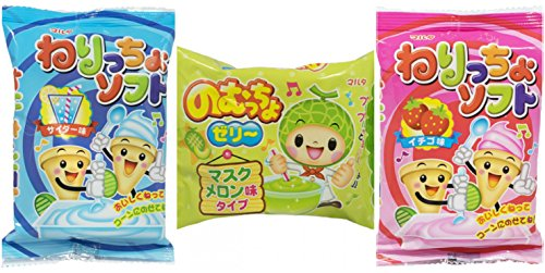 Maruta Nericcho Nomuccho 3 Pack DIY Mini Ice Cream and Jelly (Strawberry, Soda, Melon) (Ice Cream Cone Gummies compare prices)