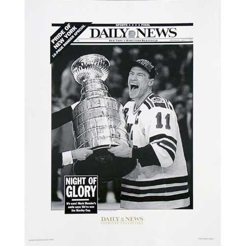 Steiner Sports Nhl New York Rangers Mark Messier Replica Daily News Cover
