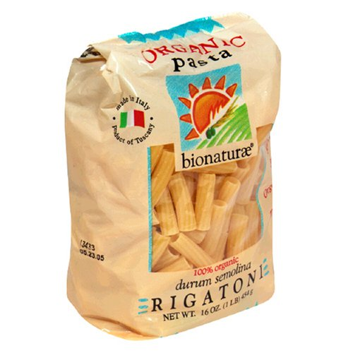 Buy Bio Nature Organic Pasta, Rigatoni, 16 Ounces (Pack of 6)