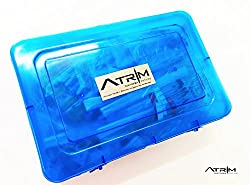 ATRIM Ultimate Electronics Kit DIY Components Resistors, Breadboard, Wires, Capacitors, Transistors (BLUE)