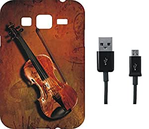 BKDT Marketing Beautifully printed Soft Back cover for Samsung Galaxy Z3 With Charging Cable