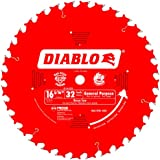 Freud D1632X Diablo 16-5/16-Inch 32 Tooth ATB General Purpose Beam Cutting Saw Blade with 1-Inch Arbor