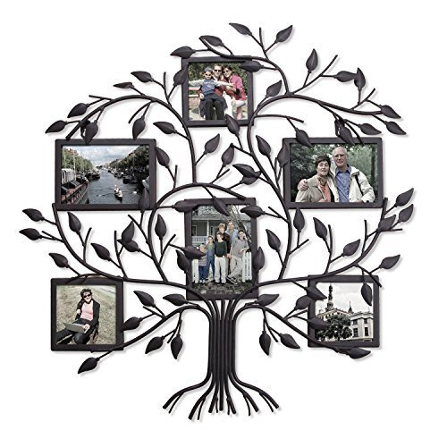 Adeco PF0571 Family Tree Black Metal Wall Hanging Decorative Collage ...