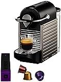 Nespresso Pixie Titanic YY1201 Krups  - Cafetera monodosis (19 bares, Apagado automático, Sistema calentamiento rápido)