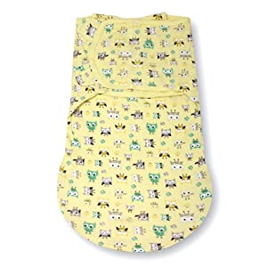 Summer Infant SwaddleMe WrapSack Blanket, What a Hoot, Small