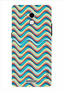 Noise Orange Blue Waves Printed Cover for Coolpad Dazen Note 3