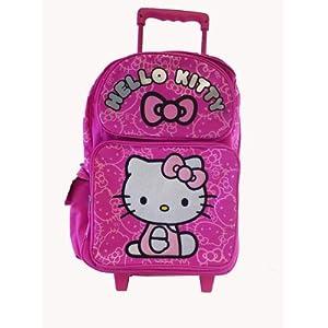 hello kitty rucksack mit rollen koffer koffer rucks cke taschen. Black Bedroom Furniture Sets. Home Design Ideas