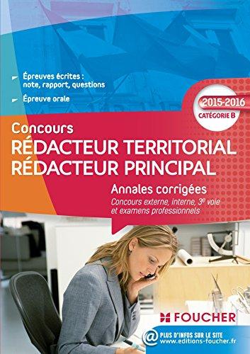 Annales corrigés Rédacteur Territorial / Rédacteur Principal Catégorie B
