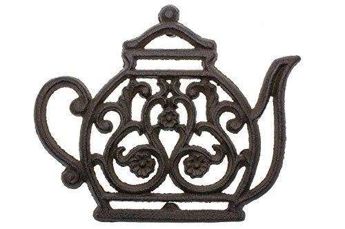 Find Cheap Cast Iron Trivet | Vintage Tea Pot | Decorative Cast Iron Trivet For Kitchen Or Dining Ta...