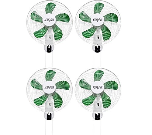 "(4) Hydrofarm Acf16 Active Air 16"" Wall Mountable Oscillating Hydroponic Fans"