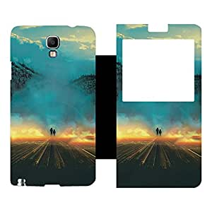 Skintice Designer Flip Cover with Vinyl wrap-around for Samsung Galaxy Note 3 Neo N7505, Design - Fantasy
