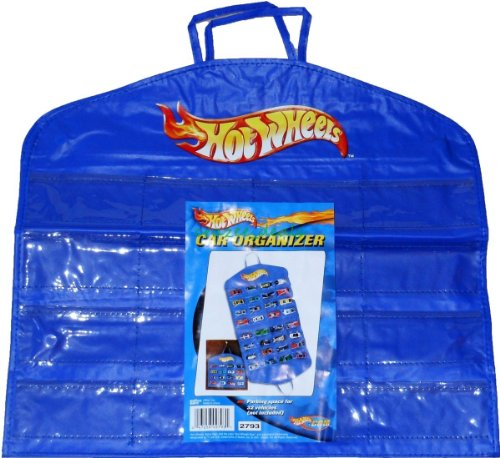 Hot Wheels Vinyl Hanging Toy Diecast Car Carrying Case Organizer