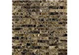 Dark Empredor Polished Marble Mosaic