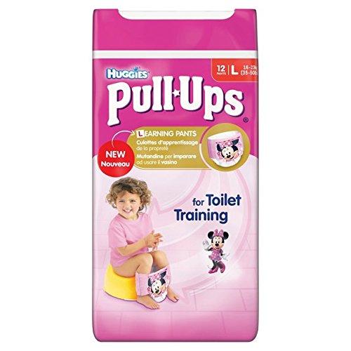 Huggies Pull-up, misura grande, per bambine, confezione da 12